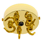 brass 5 outlet ceiling rose