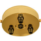 brass 3 black cord grip large ceiling rose