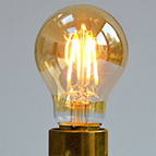 filament LED A60 gold bulb