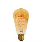 Curved filament vintage bulb