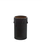 wide card candle tube in black