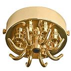 brass 9 hook ceiling rose