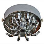 chrome multi outlet ceiling plate