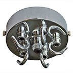 chrome multi ceiling outlet