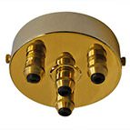 four brass cordgrip ceiling rose
