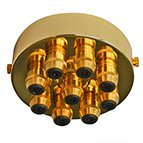 brass 9 gland ceiling light fitting