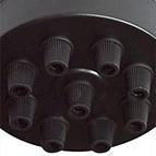 black ceiling rose multi bulb
