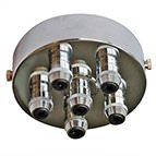chrome multiple outlet ceiling light fitting