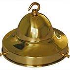 brass six inch domed lamp gallery