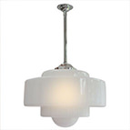 Flashed opal stepped light shade