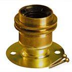ES batten bulb lampholder in brass