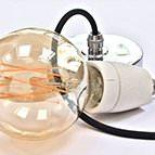 Linen colour lampholder Edison Screw