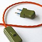sage rocker switch with orange flex and sage green plug