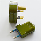 sage plug and switch with orange lamp flex