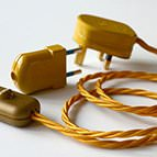 Gold Euro 2 pin electrical plug