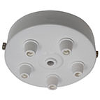 White 5 Cord Grip Ceiling Plate