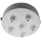 white multi outlet ceiling light fitting