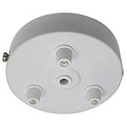 White 3 cord grip ceiling plate