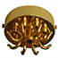 Brass 8 hook & cord grip large ceiling hook