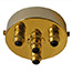 Brass 4 metal cord grip large ceiling plate