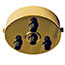 Brass 4 black cord grip large ceiling plate