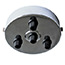 Chrome 4 black cord grip large ceiling plate