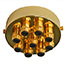 Brass 9 metal Cord Grip Ceiling Plate