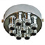 Chrome 9 metal cord grip ceiling plate