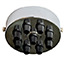 Chrome 9 black cord grip ceiling Plate (Clearance)