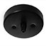 Black single cord grip ceiling plate (Clearance)