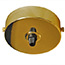 Brass single black cord grip large ceiling plate