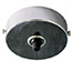 Chrome single black cord grip large ceiling plate