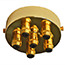 Brass 6 metal Cord Grip Ceiling Plate