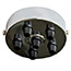 Chrome 6 black cord grip Ceiling Plate