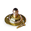Brass single metal cord grip ceiling plate