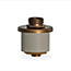 Rubber bung 22-24mm with aged brass plate