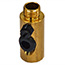 Brass lamp side entry tube