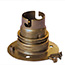 Aged brass BC batten lamp holder