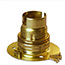 Brass batten BC lamp holder