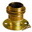 Brass Lamp holder ES Batten with shade rings