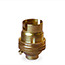 Brass BC lamp holder with shade rings