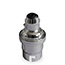 Chrome BC lamp holder with cord grip (no shade rings)