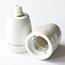 White china lamp holders