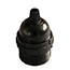 Black ES lamp holder with cord grip & shade rings