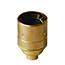 Brass ES lamp holder (no shade rings)