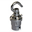 Chrome BC lamp holder with hook (no shade rings)