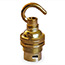Brass BC lamp holder with hook