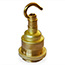 Brass ES lamp holder with hook & shade rings