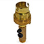 Brass side entry BC lamp holder