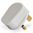 white electrical plug